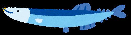 秋刀魚のイラスト(魚)