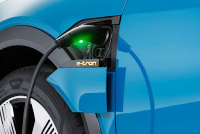 Charging Audi E-Tron SUV