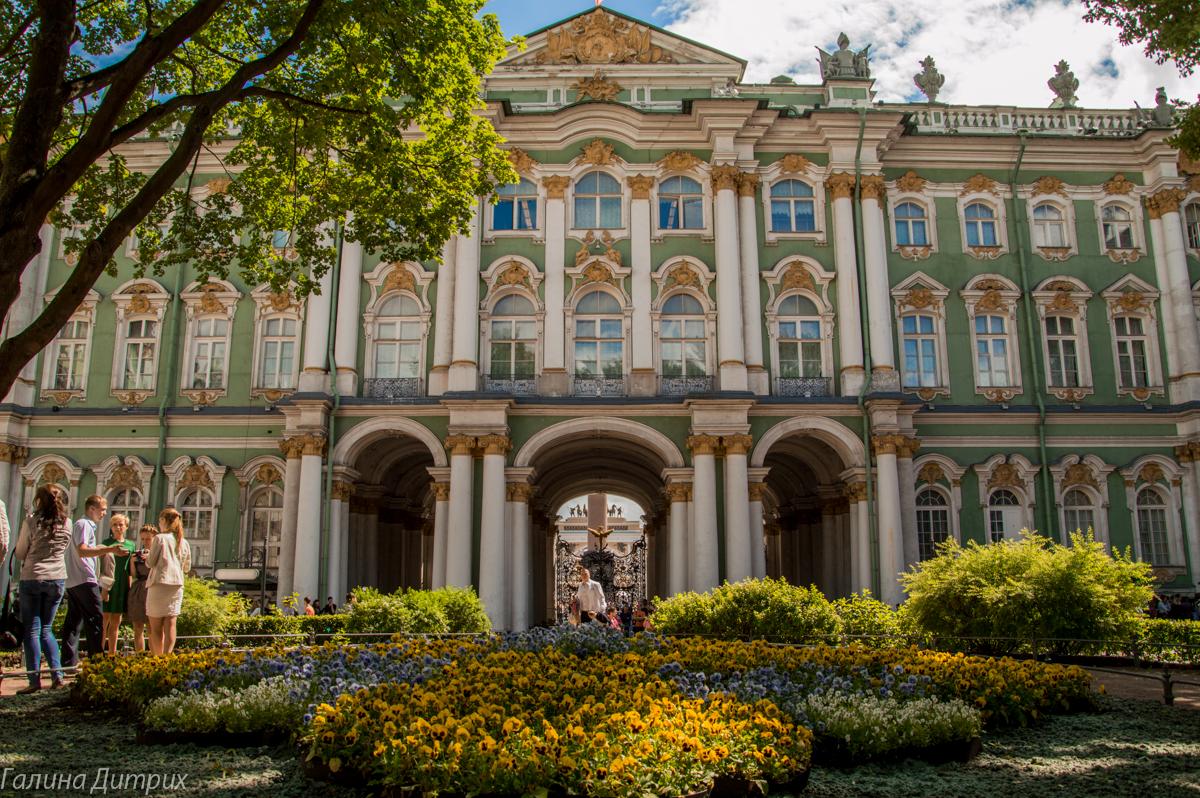 Сад Зимнего дворца фото