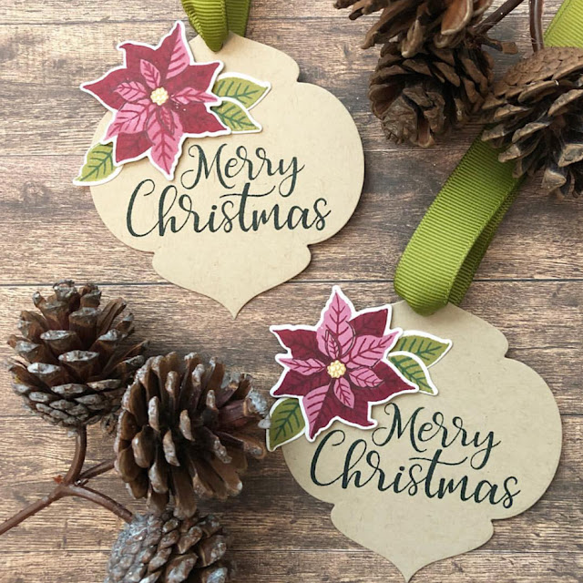 Sunny Studio Stamps: Petite Poinsettias Customer Tag Share by Dana Kirby