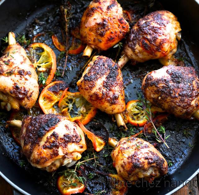poulet , sumac, citron , rapide , facile , grillade