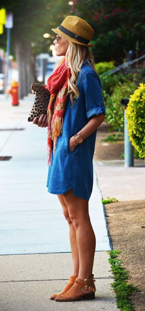 20 Style Tips On How To Wear A Shirtdress