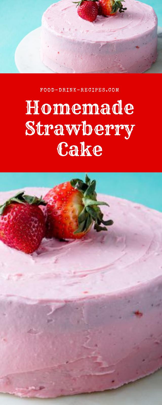Homemade Strawberry Cake - food-drink-recipes.com