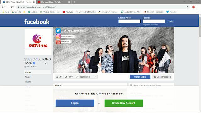 FaceBook Page after Change