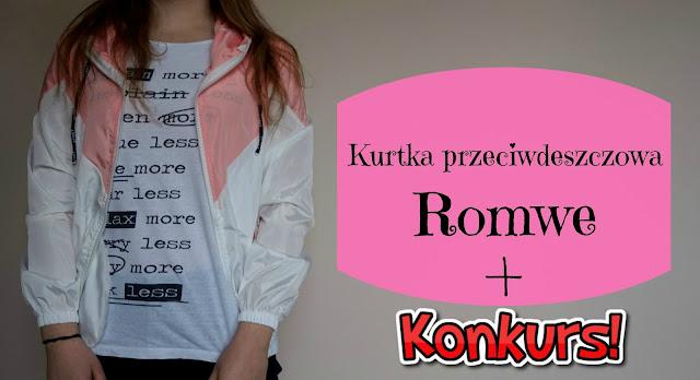 RECENZJA: Kurtka przeciwdeszczowa | Romwe + KONKURS
