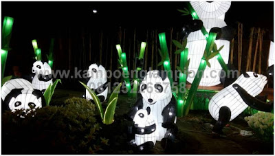 lampion taman panda