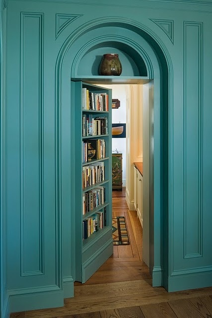 A Secret Door In Bookcases