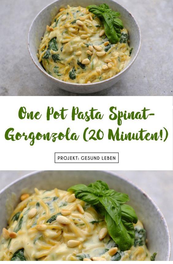 One Pot Pasta Spinat-Gorgonzola