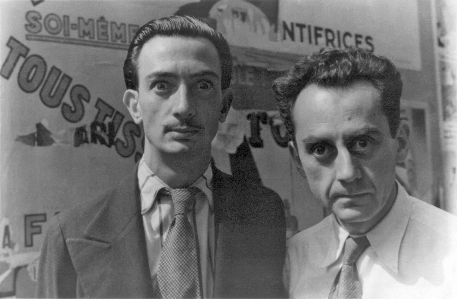 カール・ヴァン・ベクテンのサルバドール・ダリとマン・レイの肖像