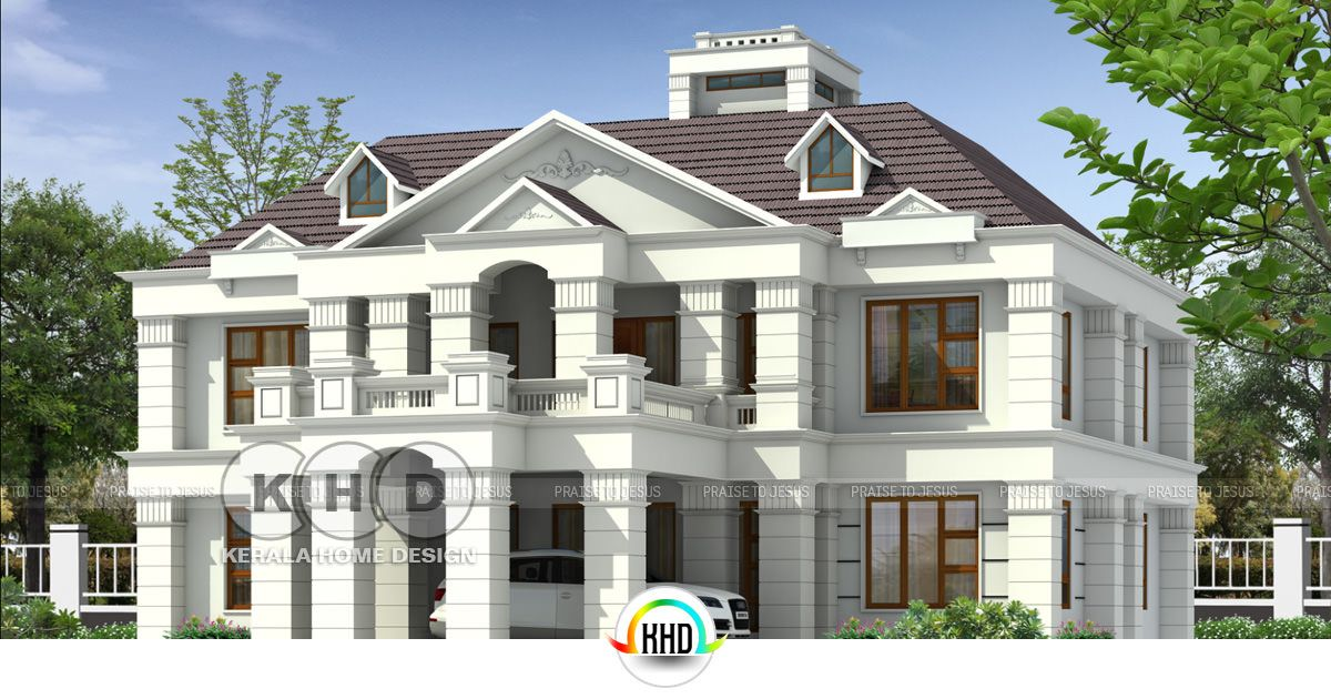Colonial Home Plan By Arcon Designers Builders Kerala