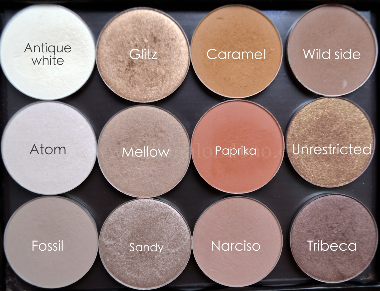 Paleta sombras de maquillaje tonos neutros Nabla cosmetcis