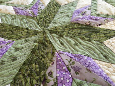 flame stitch violet Aurifil thread freemotion quilting