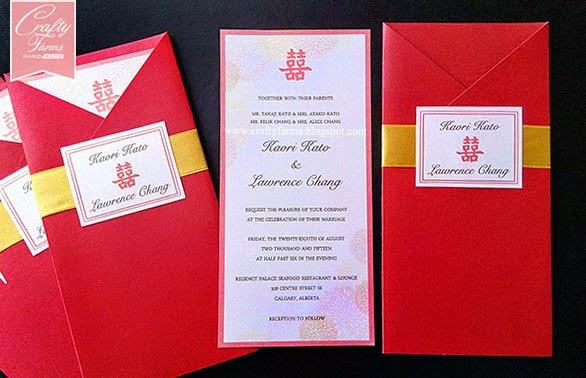 wedding card malaysia crafty farms handmade red and gold