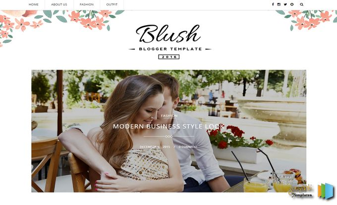Blush free responsive photography blogger template