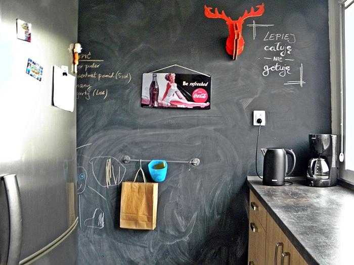 pomysł na farbę tablicową w kuchni | levelupstudio