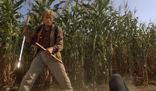 Rutger Hauer in the 1989 action cult film Blind Fury