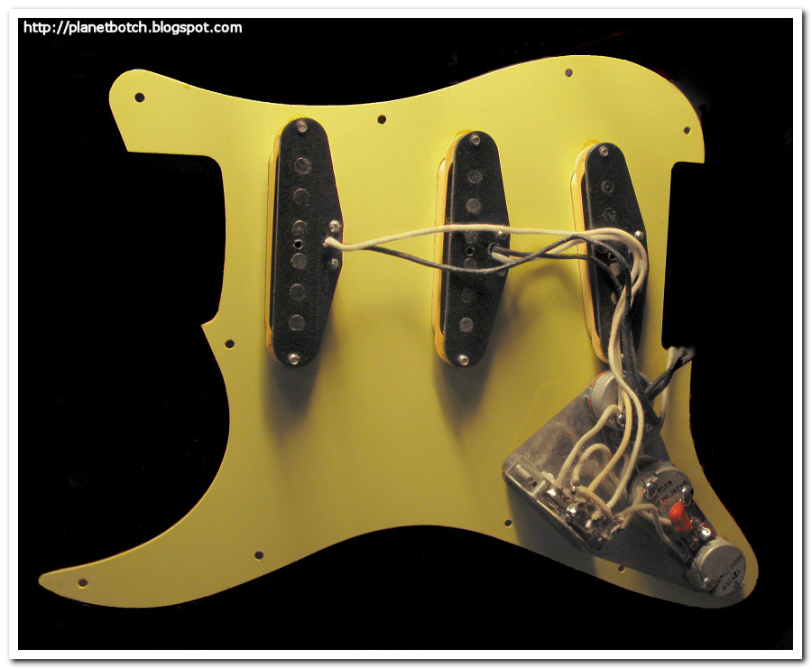 Fender MIJ '62 Strat reissue scratchplate rewired