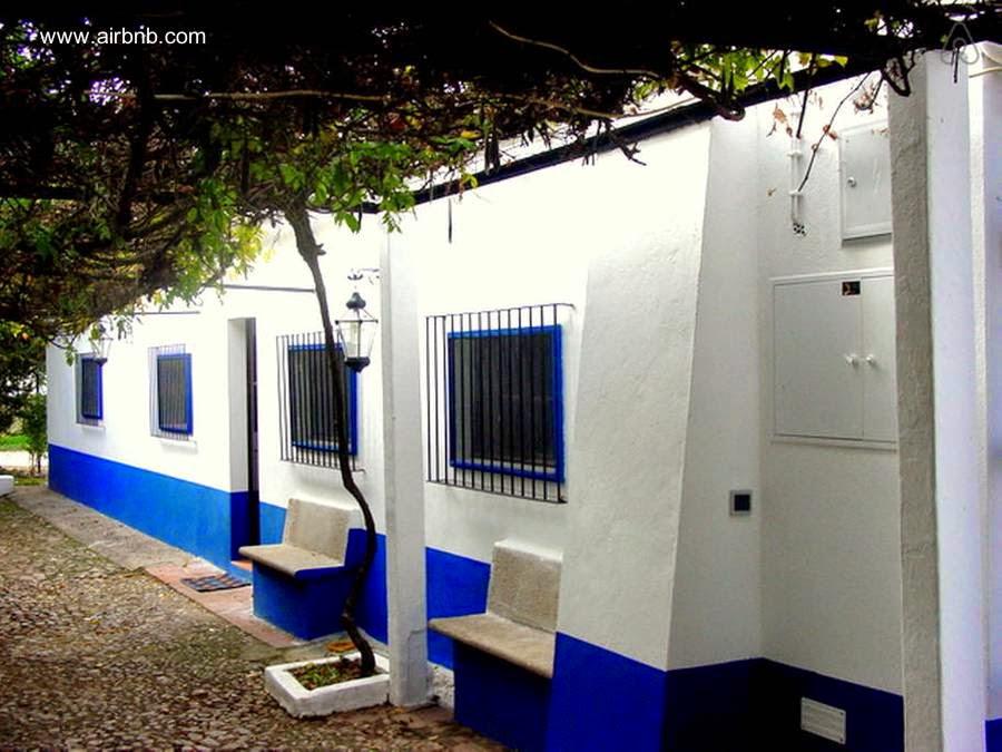 Casa de campo patio con parra en Portugal