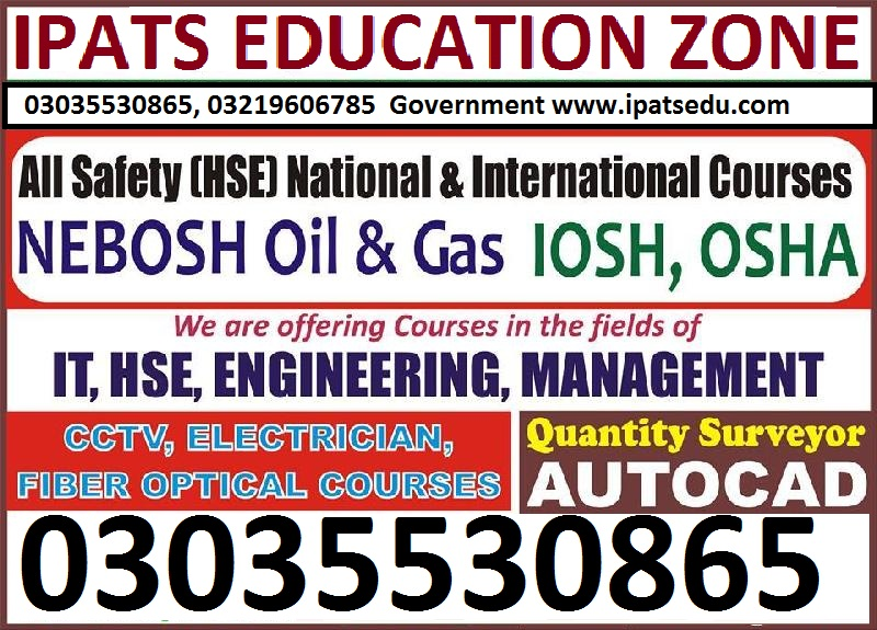Safety Officer Course in Lahore, Safety Training03035530865, 03219606785