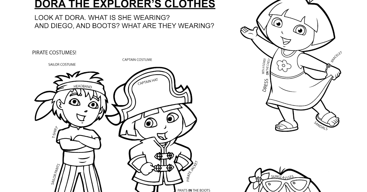 Páginas para colorear originales Original coloring pages: Dora the ...