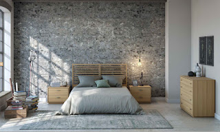 Dormitorio Completo Lineal Roble Headbor
