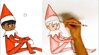 كيفية رسم طفل | قزم | الانمي |elf on the shelf