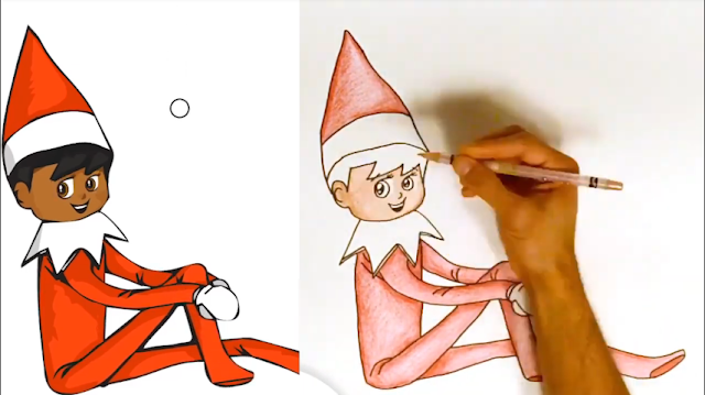 كيفية رسم طفل   قزم   الانمي   elf on the shelf