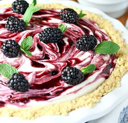 BLACKBERRY LEMONADE PIE #dessert #recipe