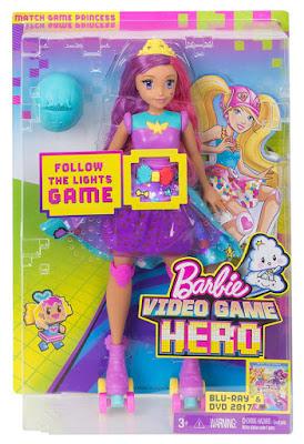 JUGUETES - BARBIE   Superheroína del videojuego  Muñeca Princesa | Patines - Patinadora  PELICULA 2017 | Mattel DTW00 | A partir de 3 años  Comprar en Amazon España