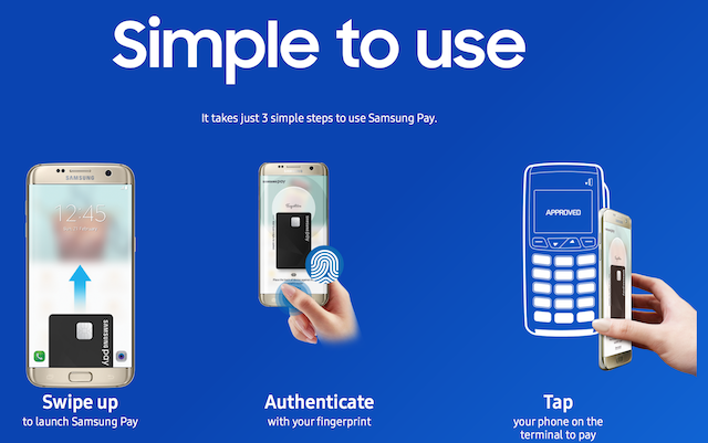 It takes just 3 simple steps to use Samsung Pay!