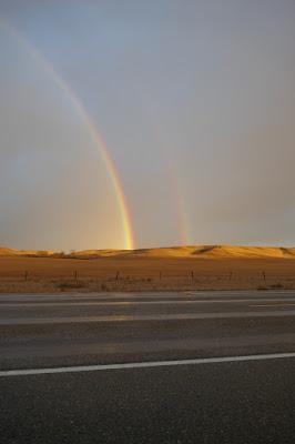 Schuler, Alberta, landscape, rainbows, prairie