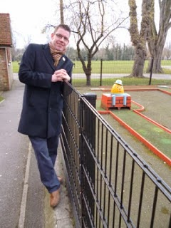 With another Humpty at the closed Crazy Golf course in Carshalton