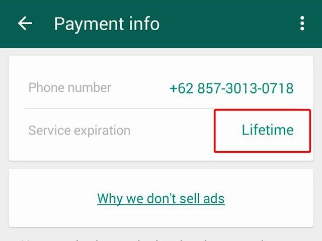 WhatsApp Sekarang GRATIS Se-UMUR HIDUP