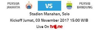 Persija vs Persib disiarkan langsung tvOne