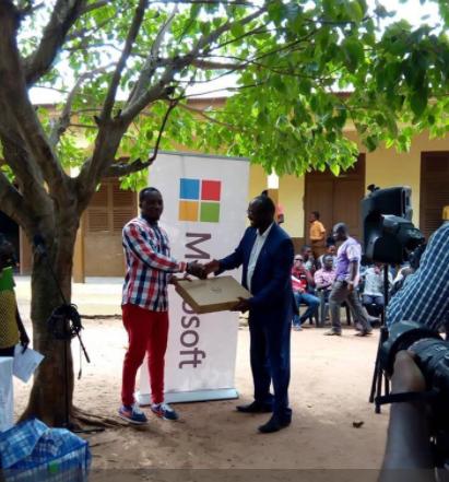 Photos: Microsoft donates Laptops to Ghanaian School where Teacher drew Microsoft Word on Chalkboard