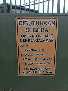 Lowongan Kerja PT Metro Garment Bandung Terbaru 2018
