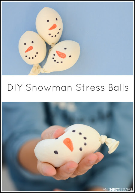 diy snowman stress balls and next comes l. Black Bedroom Furniture Sets. Home Design Ideas
