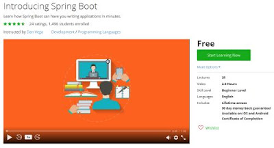 Free Course to learn Spring Boot
