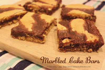 Image of cut cake bars on cutting board