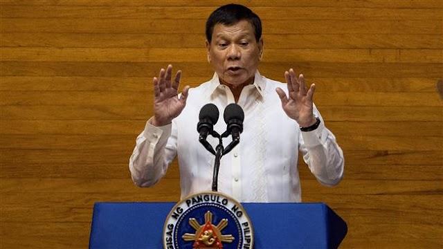 Philippine President Rodrigo Duterte urges US to return church bells