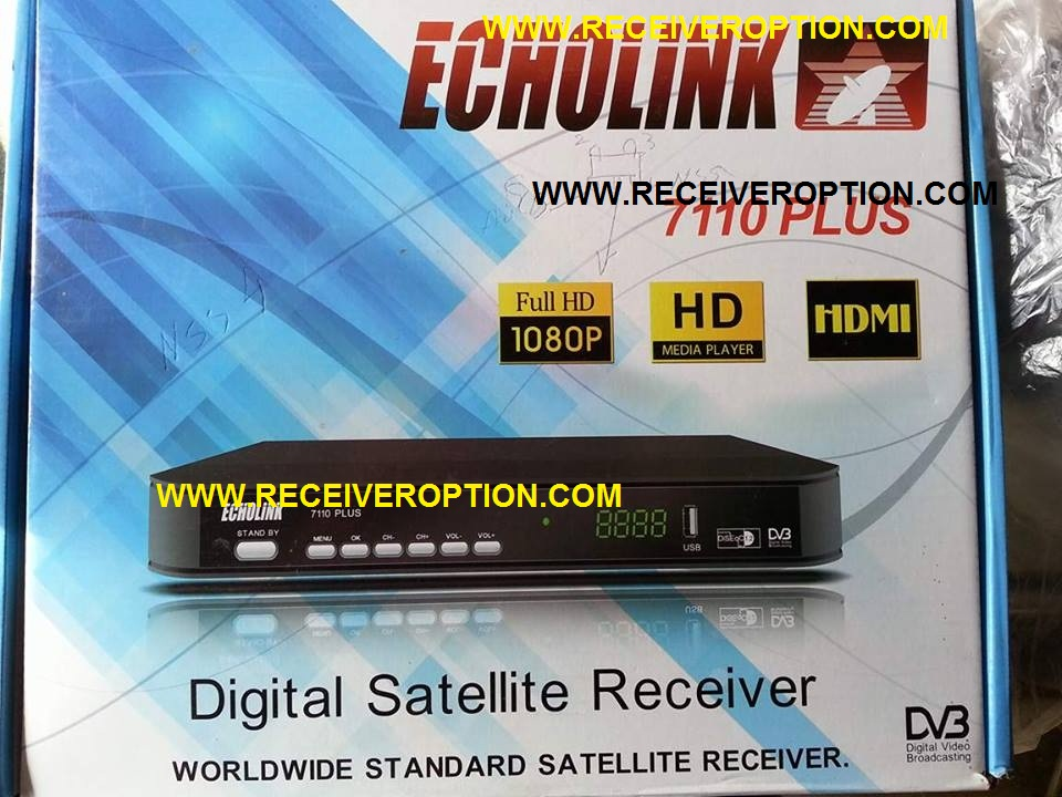 ECHOLINK 7110 PLUS HD RECEIVER BISS KEY OPTION - HOW TO ENTER BISS
