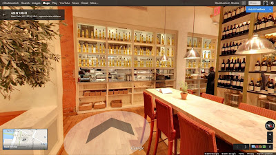 Fig & Olive Restaurant Google maps inside view NYC