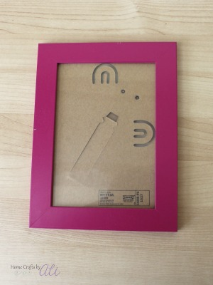 makeover a plastic IKEA picture frame