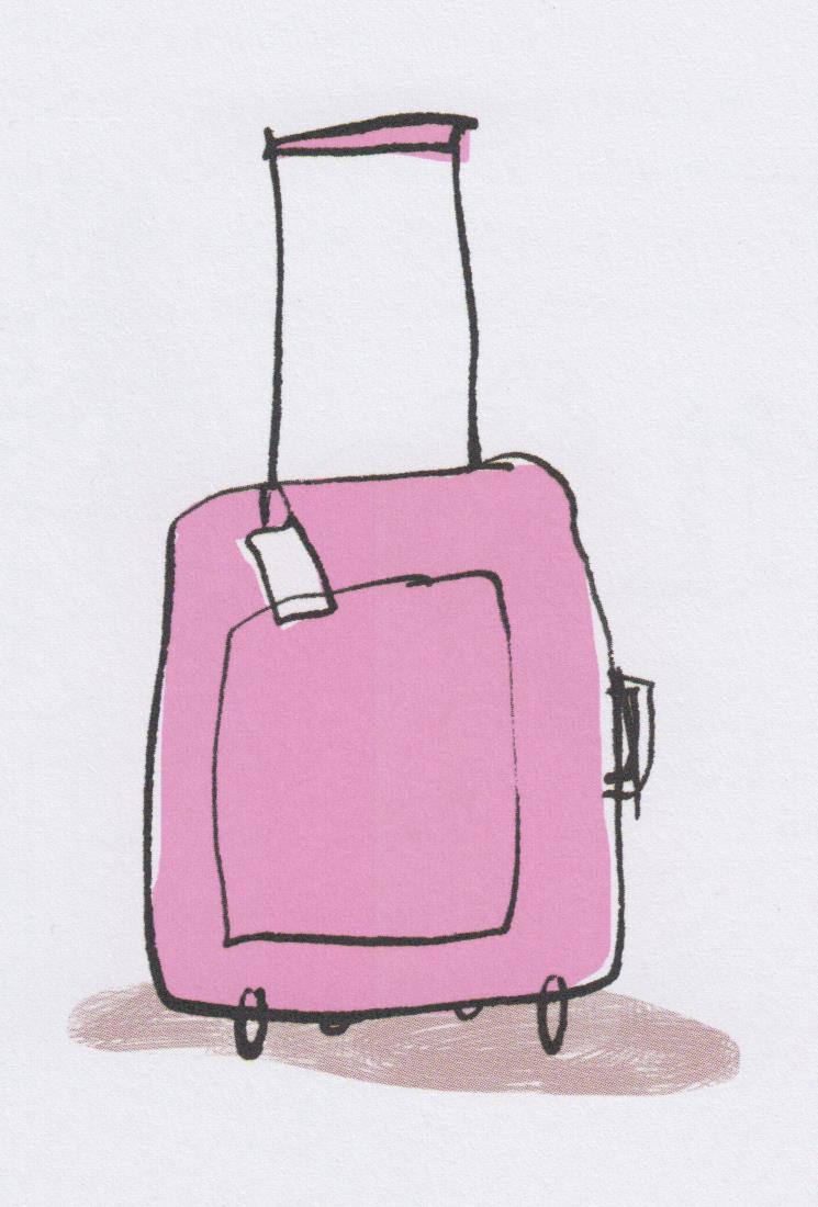 Lu cie co un mot d clin en rose fluo et en noir lequel - Dessin de valise ...