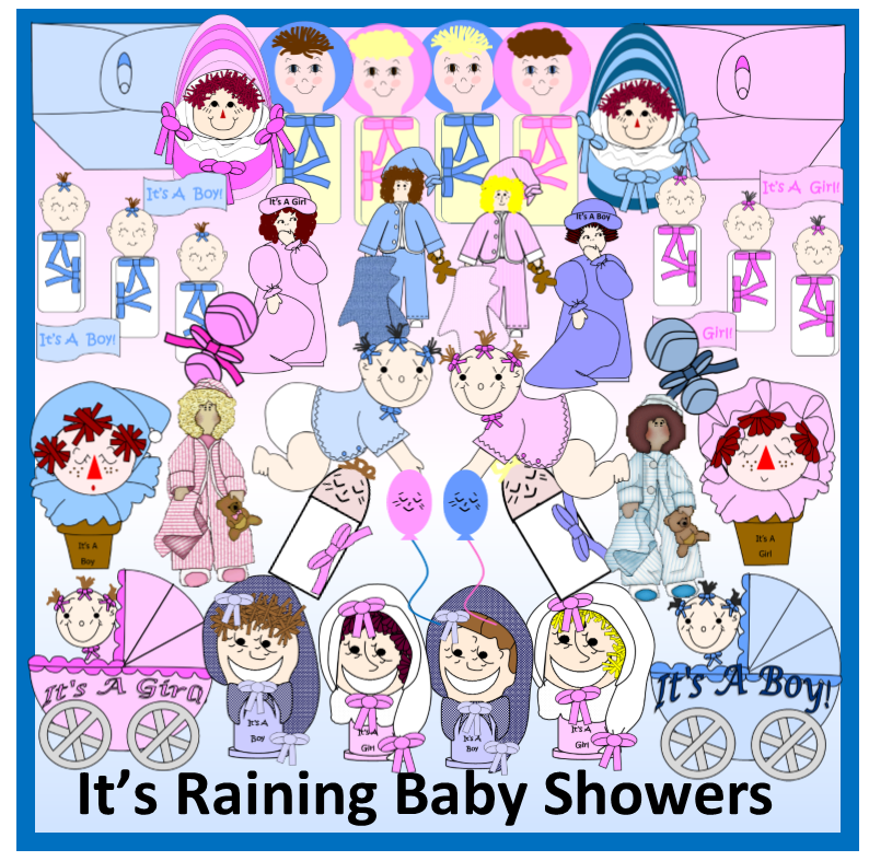 "The ""Dollies"" LOVE Baby Showers - It's Raining Baby Showers"