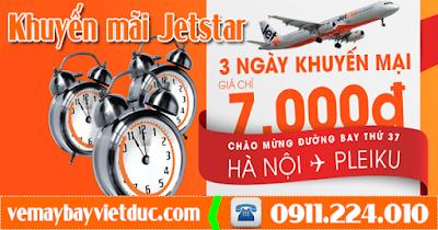 khuyến mãi vé máy bay Hà Nội-Pleiku chỉ 7000 ngàn