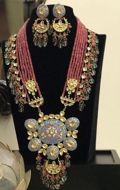 Meena Work Fancy Beads Necklaces