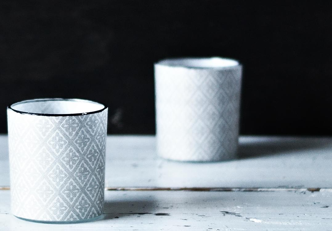 Teelichtgläser mit Muster  {by it's me! }