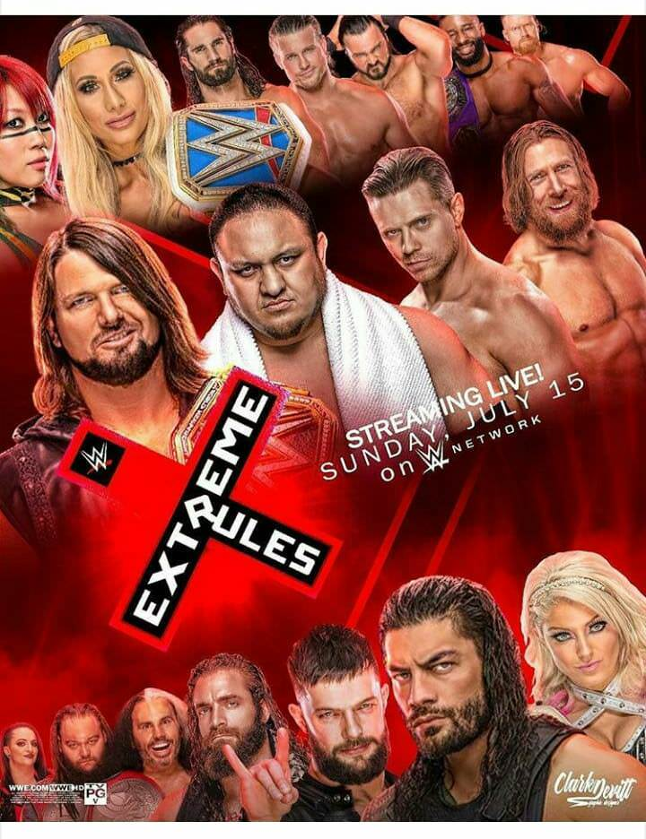 WWE Extreme Rules 2018 PPV 480p HDRip x264 700MB