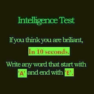 Word Brain Teaser Quick Intelligence Test